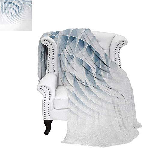 Lightweight Blanket Futuristic Digital Spirals with Dimensional Line Features Vortex Inspired Print Custom Design Cozy Flannel Blanket 50