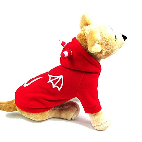 Halloween Pet Dog Costume,Alalaso Woodland Camouflage Cotton Hoodied Sweatshirts Dog Clothes Pet Clothing (M, Red) ()