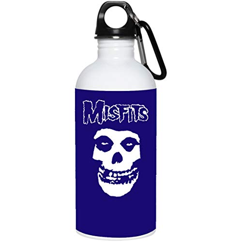 Misfits Band Glenn Danzig Michale Graves American Punk Rock Band - 20 oz Stainless Steel Water Bottle for Women Men Kids Dad Mom (Royal, One Size)]()