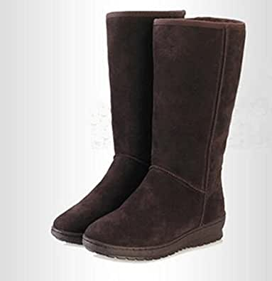 Amazon.com | Ms their boots new winter cowhide boots with
