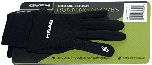Head Multi-Sport Running Gloves with SensaTEC-Black (X-Small) by HEAD