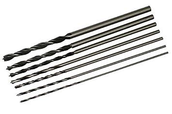 7pcs 300mm Holzbohrer Bohrsatz Schlangenbohrer 4-12mm mit Tasche Set