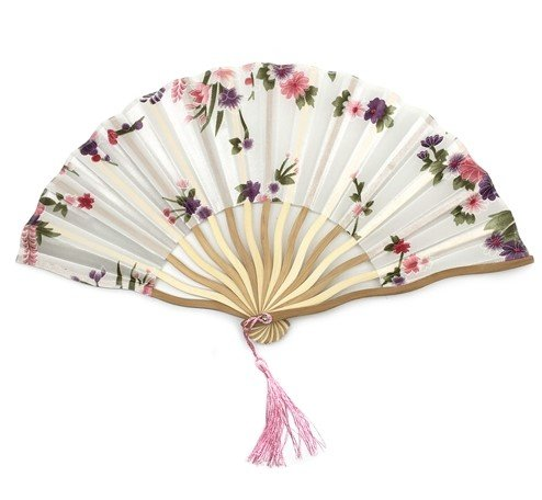 White Bamboo Hollow Flower Hand Fan Folding Pocket Fan Wedding Decoration Mariage by Hand Fan