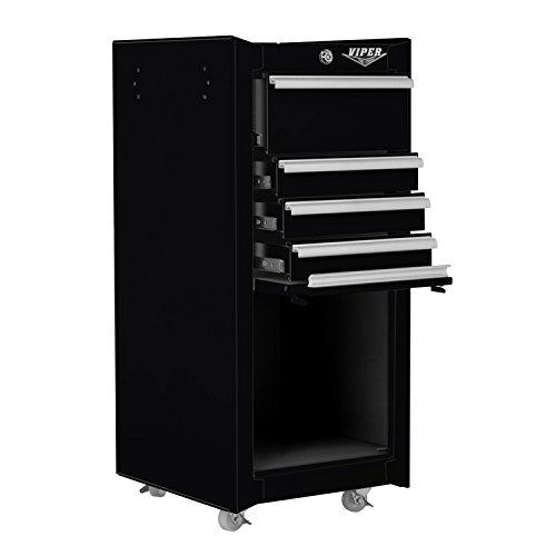Viper Tool Storage V1804BLR 16-Inch 4-Drawer 18G Steel Rolling Tool / Salon (4 Drawer Garage Storage)