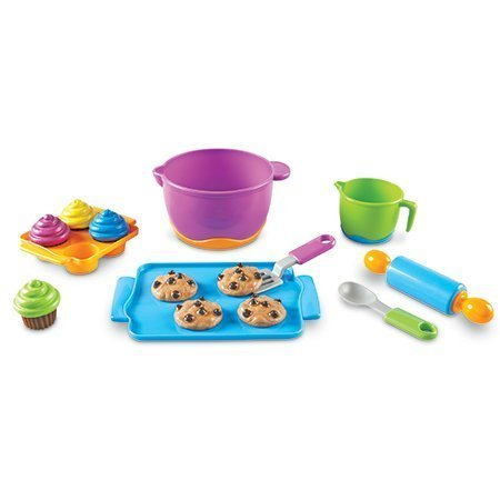 Learning Resources New Sprouts Bake It! Pretend Play Food, 15 Pieces, Ages 18 mos+