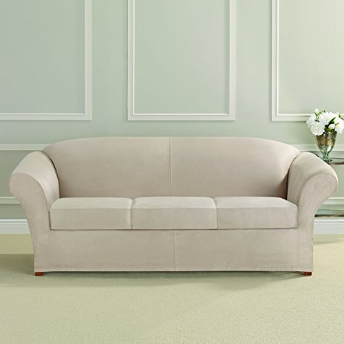 Ultimate Heavyweight Stretch Faux Suede 3 Box Cushioned Sofa - Box Stretch