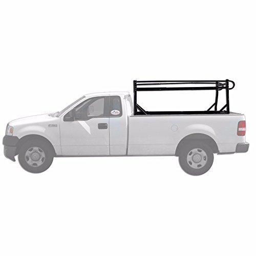 AA-Racks Model X39 Full-size Truck Ladder Rack Side Bar with no Cab Ext.-Matte Black