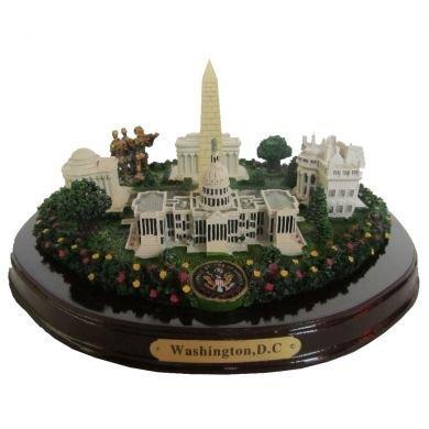 Oval Washington, D.C. Monuments Desk Statue - 8