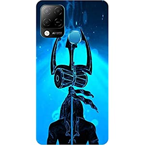 Amagav Soft Silicone Printed Mobile Back Cover for Infinix Hot 10S -Design17