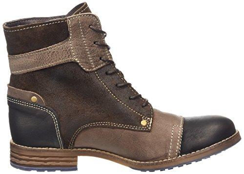 Mustang Schnür-Booty - botas de caño bajo de cuero mujer marrón - Braun (32 dunkelbraun)