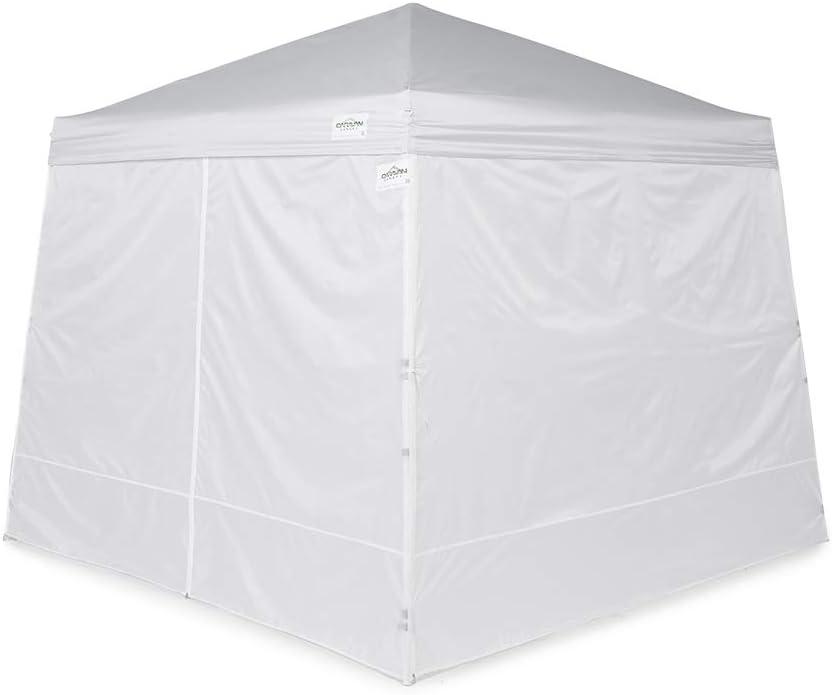 Caravan Canopy 11007812014 Set for 64 sq.ft. V-Series Slant Leg 10x10 Canopy sidewalls, White