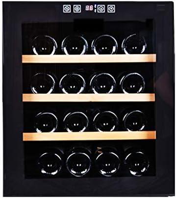 XJBHRB Vinoteca - Nevera, Nevera Vinos, 16 Botellas De Vino, Zonas De Temperatura 13-18 ° Pantalla Táctil, Luces LED Menos Ruido Y Sin Vibración