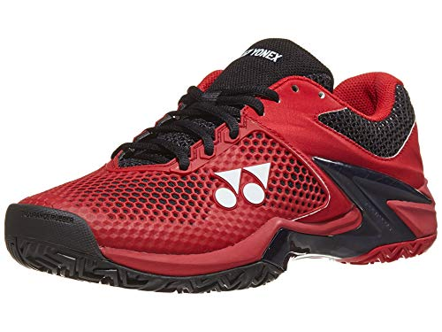 Yonex Power Cushion Eclipsion 2 Mens Tennis Shoe, Red/Black (Size 10.5)