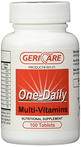 501-01 Multivitamin One-Daily Tablets 100 Per Bottle by Geri-Care Pharmaceuticals -Part no. 501-01