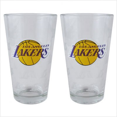 Boelter Brands NBA Los Angeles Lakers 150632 Pint Glass, Clear, One ()