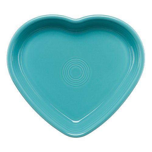 Homer Laughlin 107-1491 Large Heart Bowl, Turquoise