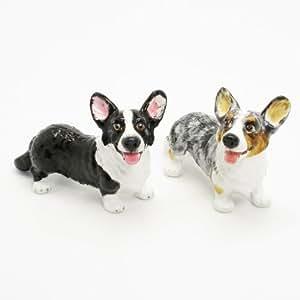 Cardigan Welsh Corgi Dog Ceramic Figurine Salt Pepper Shaker 00021 Ceramic Handmade Dog Lover Gift Collectible Home Decor Art and Crafts