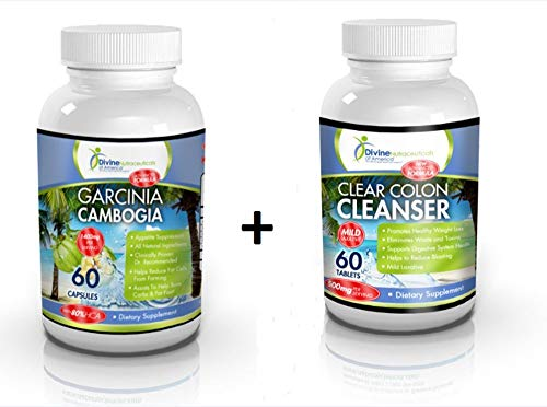 Garcinia Cambogia 80% HCA + Colon Cleanse Toxin Detox Extract Diet Weight Management Formula Freeze Compulsive Cravings and Burn Stubborn Fat Fast!