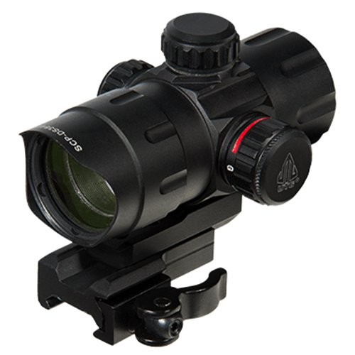 UTG Adults 4.2 ITA Red/Green Dot with QD Mount Riser Adaptor SCP DS3840TDQ Red Dot Laser Sight, Black, One Size