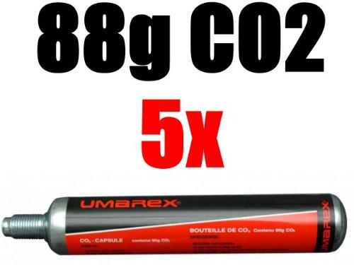 5 Umarex Co2 Kapseln 88 Gramm für Gotcha / Softair / Paintball NEMT 588g
