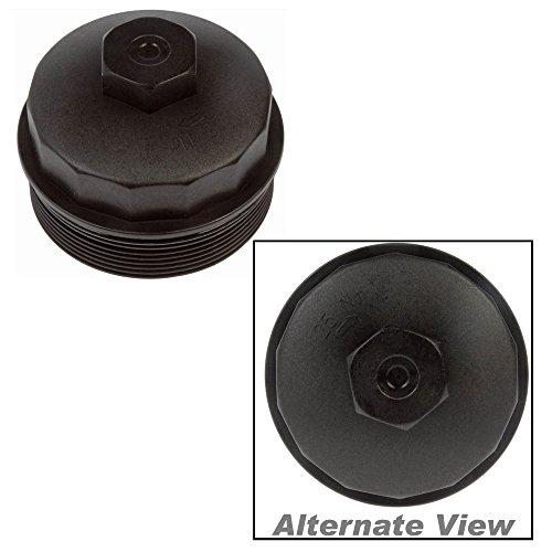 APDTY 015315 Oil/Fuel Filter Cap w/Gasket Fits Select 2003-2011 Ford/IC Corporation/International/Workhorse (Replaces 3C3Z-9G270BA, 3C3Z-9G270-A, 3C3Z-6766-CA)