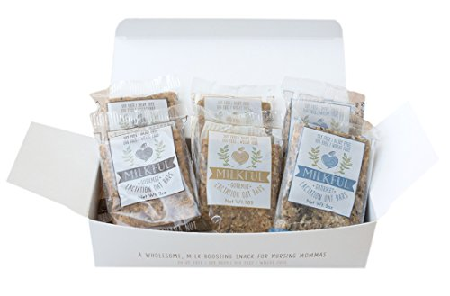 MILKFUL Lactation Bars- Wholesome Alternative to Lactation Cookies for Breastfeeding Moms. Helps Boost Breast Milk. (Dairy Free, Egg Free, Soy Free, Wheat Free) Variety Box- 2 Blue/ 2 Choc/ 2 Maple