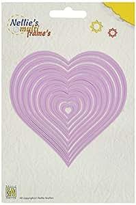 Ecstasy Crafts Nellie's Choice Multi Frame Dies, Heart, 10-Pack