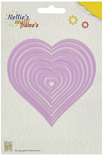 (Ecstasy Crafts Nellie's Choice Multi Frame Dies, Heart, 10-Pack)