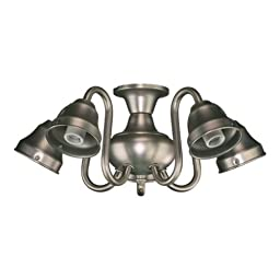 Quorum International 2530 Five Light Fan Light Kit, Antique Silver