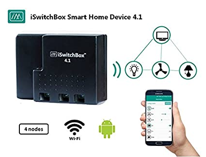 iSwitchBox 4 1 - Smart Home Device, 4 Channel, Control Home Appliances from  Smartphone, 1 year warranty, Home Automation