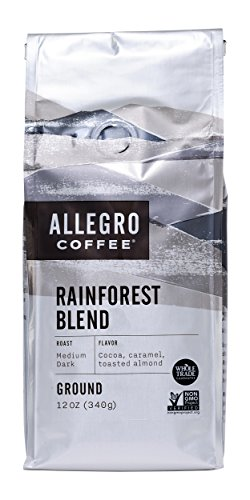 Allegro Coffee Rainforest Blend Ground Coffee, 12 (Blend Coffee 12 Oz Drip)