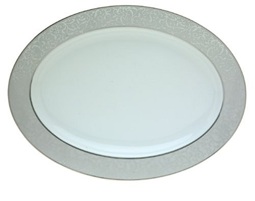 Oval Holiday Platter Serving (Mikasa Parchment Oval Serving Platter, 14-Inch)