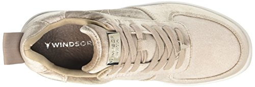 Sneaker Donna Beige Racerr Alto Taupe a Velvet Collo Smith Windsor Hg16wqFxH