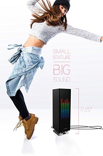 Sharper Image Sbt1003bk Bluetooth Speaker With Lights Beat