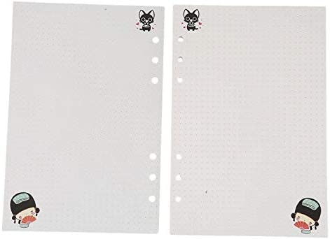 Gaoominy A5 Niedliche Bunte Tagebuch Minen Spiralblock Ersetzen Farbe Kern Lose Blatt Schreibwaren Geschenk Schule Planer Ringbuch Papier (Punkte)
