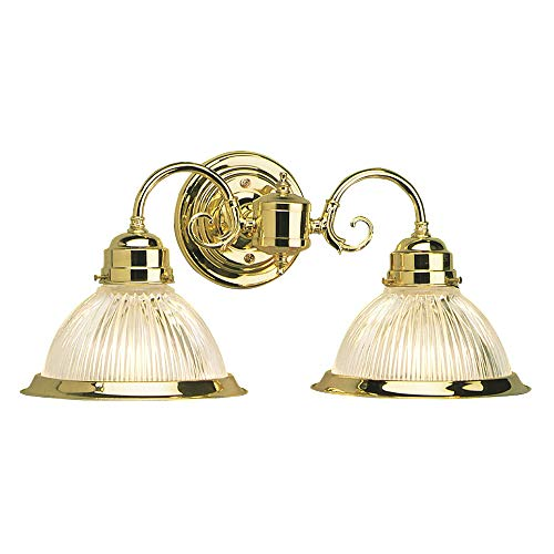 Design House 503029 Millbridge 2 Light Wall Light, Polished Brass
