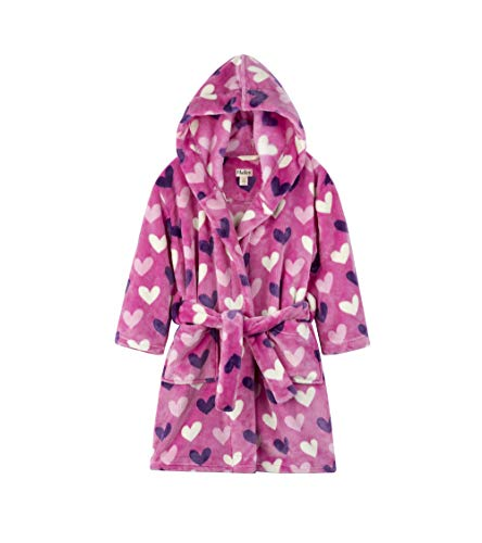 - Hatley Girls' Big Fuzzy Fleece Robes, Multi Hearts, X-Large (8-10 Years)