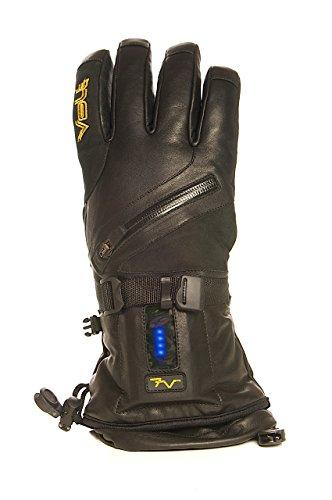 Volt Heat Leather XL 7V Titan Leather Cold Weather Gloves (X-Large, Black)