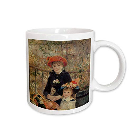 (3dRose mug_169789_1 On The Terrace, 1879 by Pierre-Auguste Renoir Ceramic Mug, 11-Ounce)