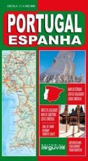 Mapa de Carreteras de España y Portugal Portugués MAPAS DE CARRETERAS: Amazon.es: Arguval: Libros