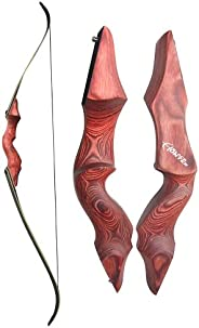 NC93 60in 30-60lbs Original Archery Black Hunter Recurve Bow Composite Wood Material Shooting Accessory Equipm