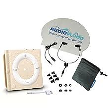 Waterproof Apple iPod Shuffle by AudioFlood with True Short Cord Headphones -...