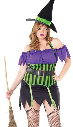 Women Witch Costume Ideas (Leg Avenue Inc Women's Spell Bound Witch Plus Size Costume Multicoloured XX-Large)