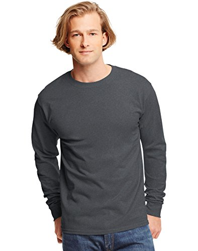 Hanes TAGLESS® Long-Sleeve T-Shirt - Others Grey Ash T-shirt