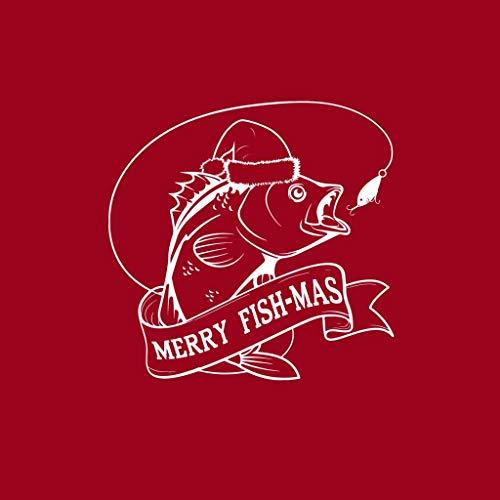 Sweatshirt Cherry Red Christmas Merry Fishmas Coto7 Women's Hooded XYvw4q
