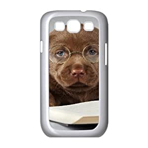 Samsung Galaxy S3 Cases Design Protective Labrador Dog Read Book, Dog & Cute Case for Samsung Galaxy S3 I9300 [White]