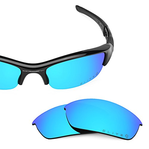 Revant Polarized Replacement Lenses for Oakley Flak Jacket Elite Ice Blue MirrorShield by Revant