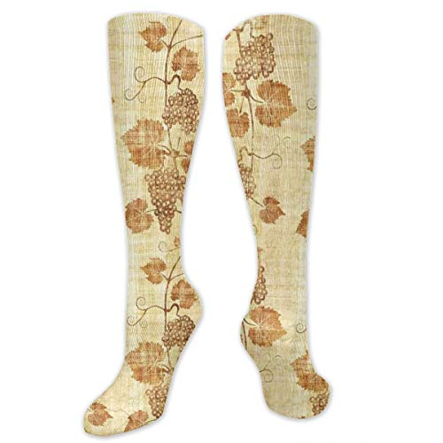 Compression Socks,Cuisine Figure On Ancient Egyptian Papyrus Parchment Aged Crumpled Artwork]()