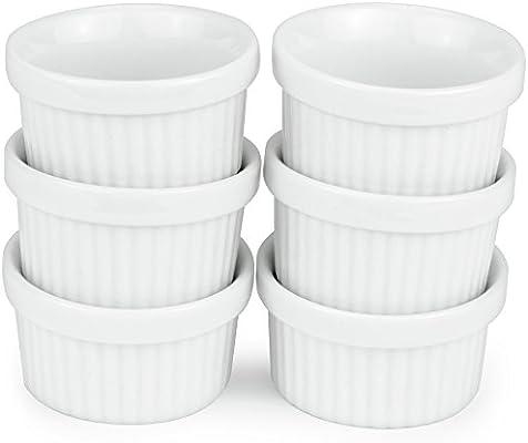 Amazon.com: Pack de 6 Mini moldes – 1 oz./1 fl oz porcelana ...
