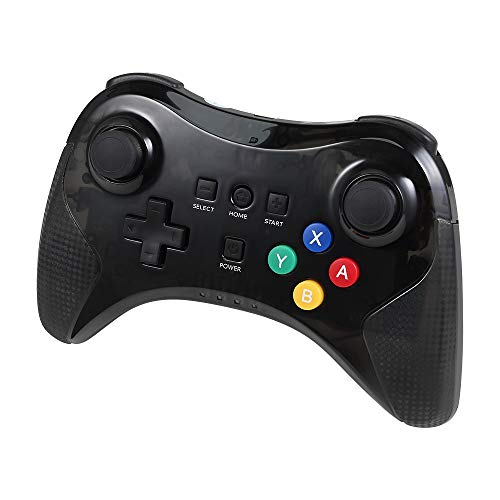 Delymc PS05 Wii U Pro Controller, USB Classic Dual Analog Bluetooth Wireless Remote Controller with USB Charge Cable for Nintendo Wii U - Black (Third-Party Product) (Classic Pro Controller For Nintendo Wii Remote Black)